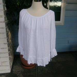 INC white top on/off shoulder.   NWT